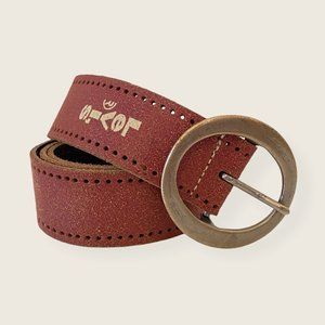 Levi's Rust Red Perforated Leather Belt